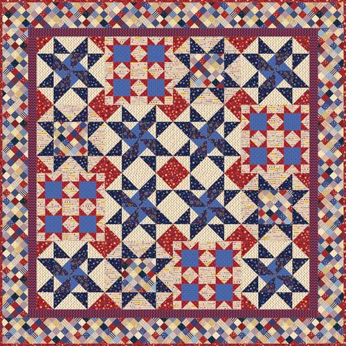 """""""Patriot Proud"""" by Janet Mednick from P&B Textiles"""