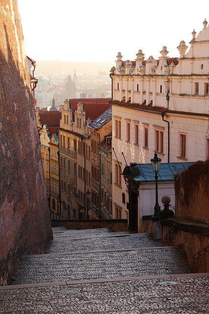 Stairway, Prague, Czech Republic photo via dejan