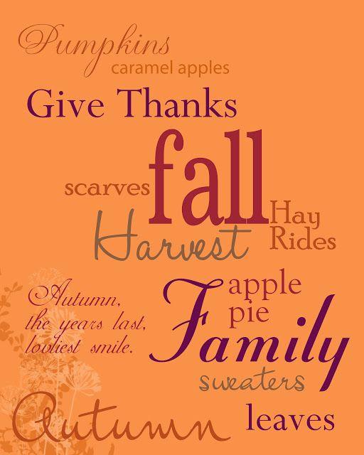 FREE Fall Printable #Fall #Autumn #DIY #Printables #HomeDecor #Decor #Decorate #Decorations