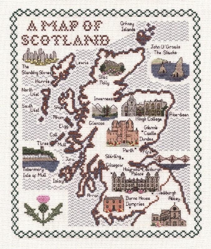 Scottish Cross Stitch Google Search Cross Stitch Samplers Cross Stitch Map Cross Stitch Patterns