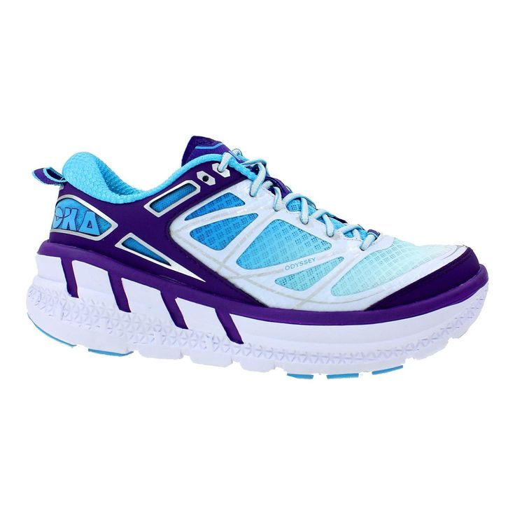 Hoka One One Women's Odyssey White/Blue Atoll Mesh Size 6 Medium >>> Want to know more, click on the image.