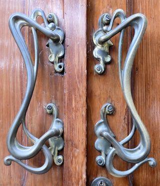 art nouveau door handles | JV