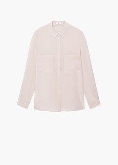 Chest-pockets silk shirt