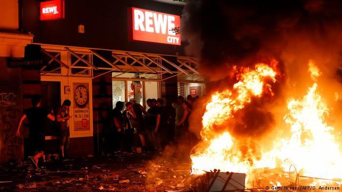 Hamburg G20 Gipgel Proteste und Gewalt (Getty Images/AFP/O. Andersen)