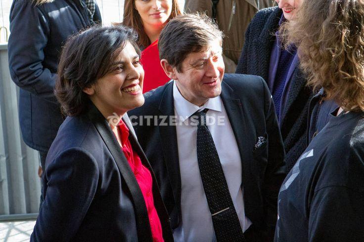 Paris : Najat Vallaud-Belkacem et Patrick Kanner visitent l'école 42 - A la une - via Citizenside France. Copyright : Christophe BONNET - Agence73Bis
