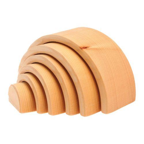 [Grimm's Spiel & Holz Design グリムス社]白木のトンネル 大 子供の想像力を引き出す、ドイツのナチュラルなシュタイナー積み木【トンネル 大】です。
