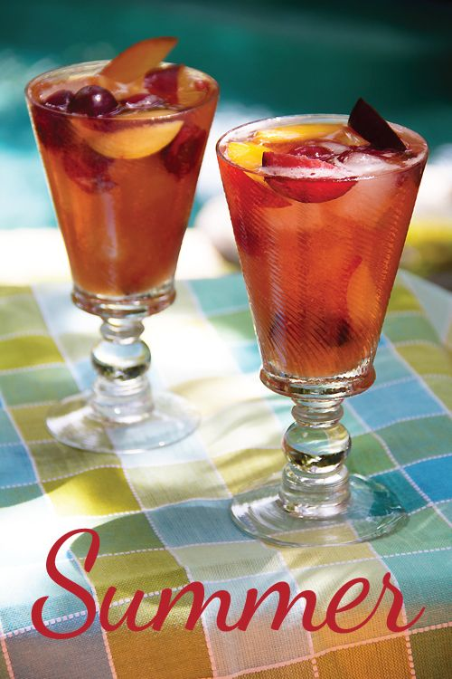 Summer Sangria with Stone-Fruit and Cherries