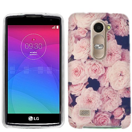 LG Leon C40 Pink Roses cover - Cell Cases USA