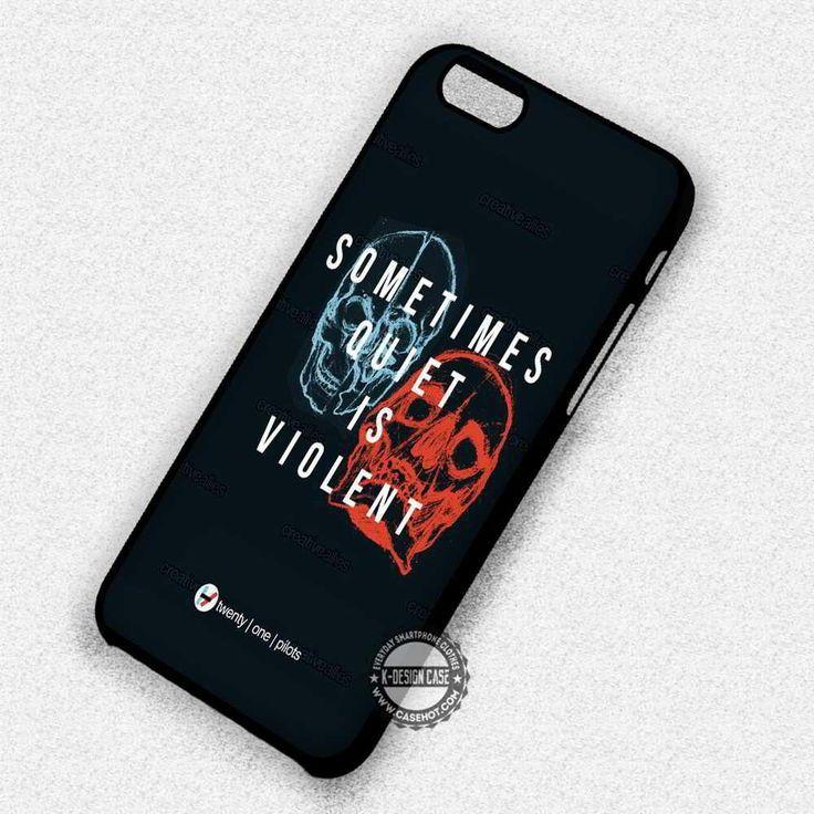 Quiet is Violent Lyric 21 Pilots  - iPhone 7 6 5 SE Cases & Covers #music #21p