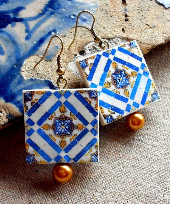 Portugal Tile Antique Replicas Majolica LARGE 17th by Atrio, $20.00