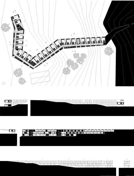 :: Il progetto dello studio Aires Mateus Associados indaga la conformazione degli spazi per la convivenza di una comunità costituita da anziani alla periferia della città portoghese di Alcàcer do S…