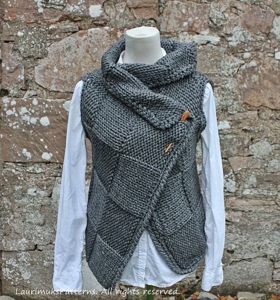 Knitting pattern Big Square Wrap is full of sumpt…
