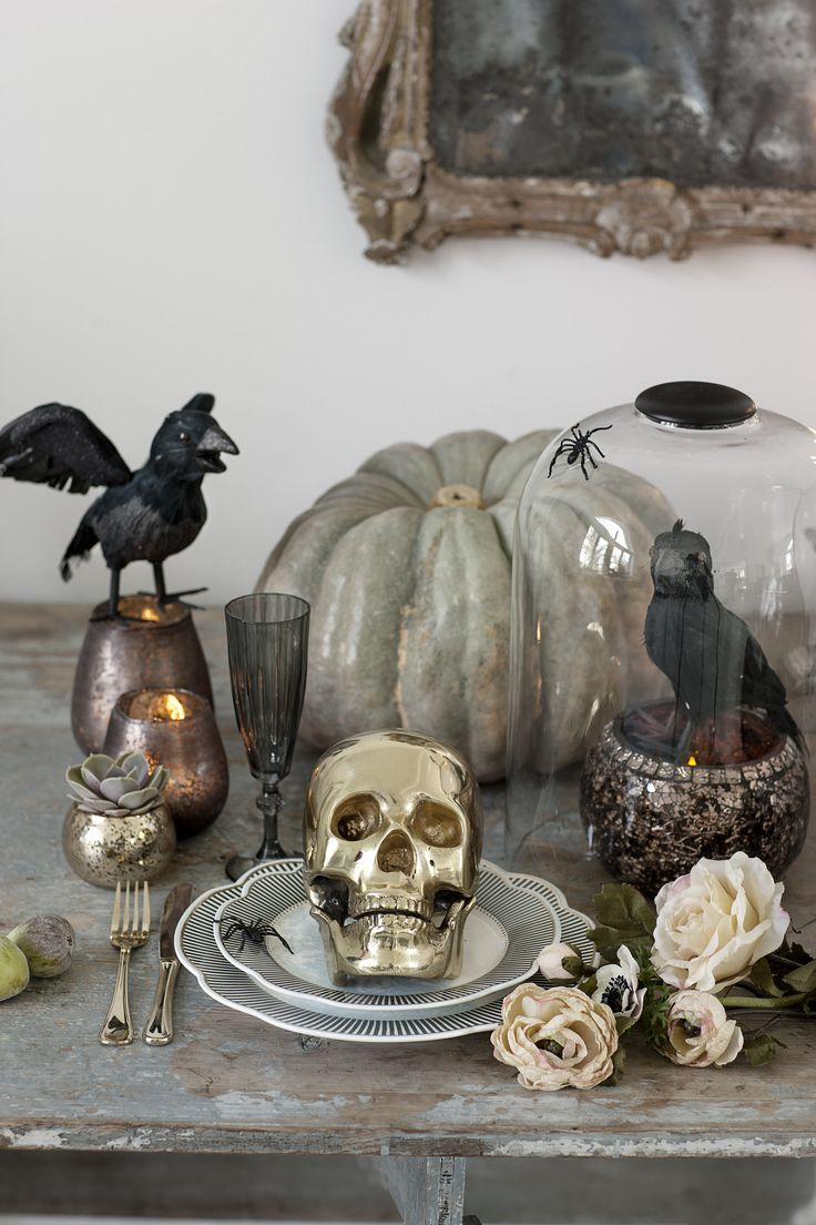 39 best Halloween Decor images on Pinterest Apartments decorating - Halloween Decoration Ideas Pinterest