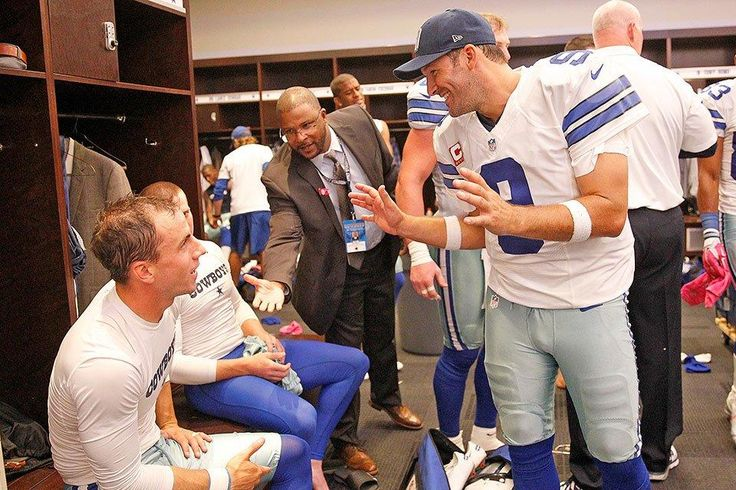 All smiles in the locker room #DallasCowboys #HOUvsDAL