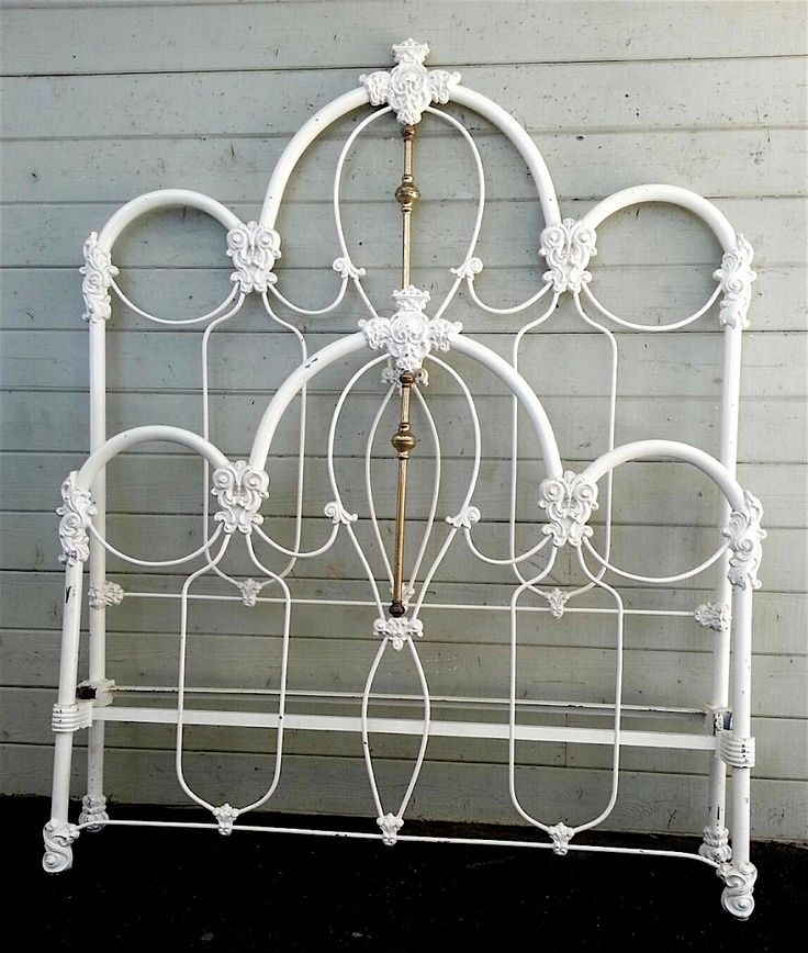 562 best Antique Iron Beds images on Pinterest | Antique iron beds ...
