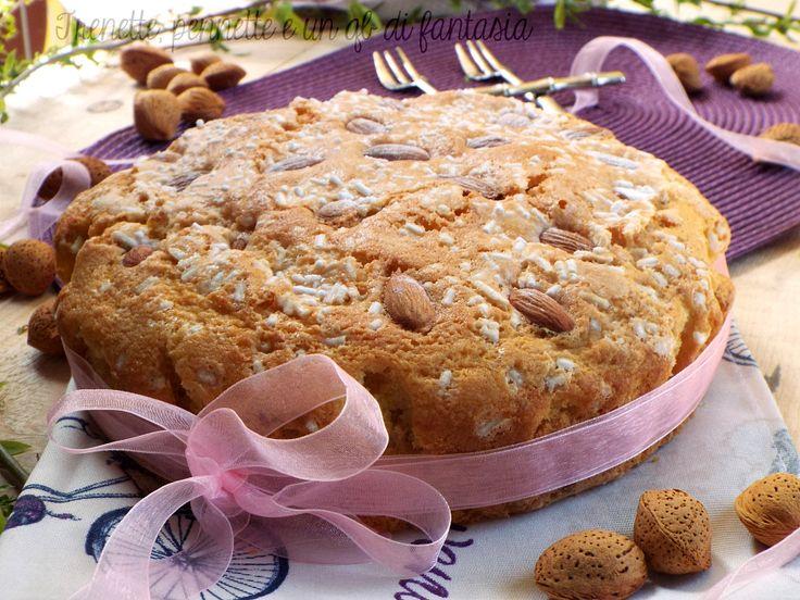 Torta+Colomba+al+latte+di+mandorla