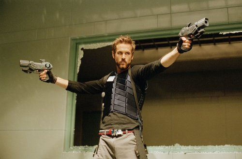 "Hannibal King/Ryan Reynolds/ ""Blade/Trinity"".  A vampire on vampire suppressing drugs or some such nonsense. Super hot, this one."