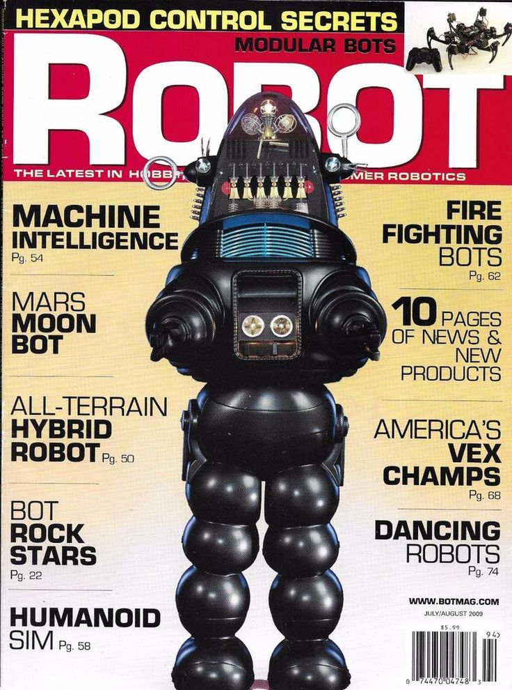 Robot magazine Machine intelligence Mars moon bot All terrain hybrid Humanoid