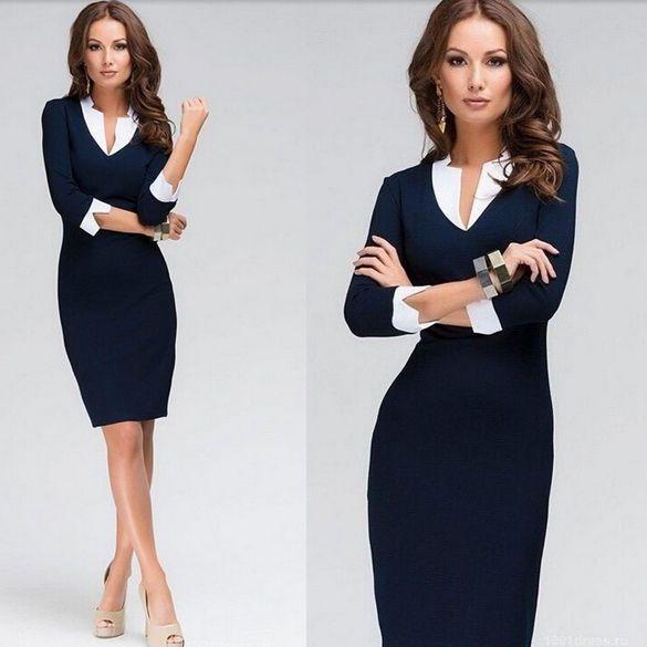 Vestito donna ufficio elegante party saldi mini abito nuova collezione tacchi