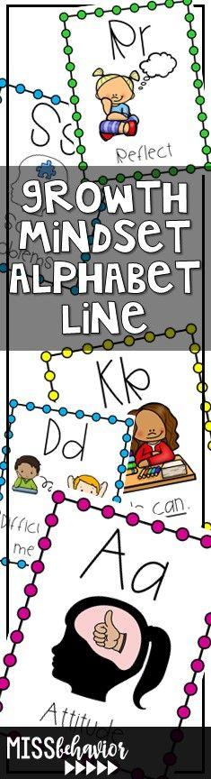 Growth Mindset alphabet line: perfect for big kids!