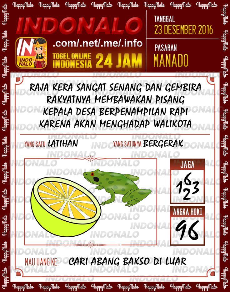 Angka Main 6D Togel Wap Online Live Draw 4D Indonalo Manado 23 Desember 2016