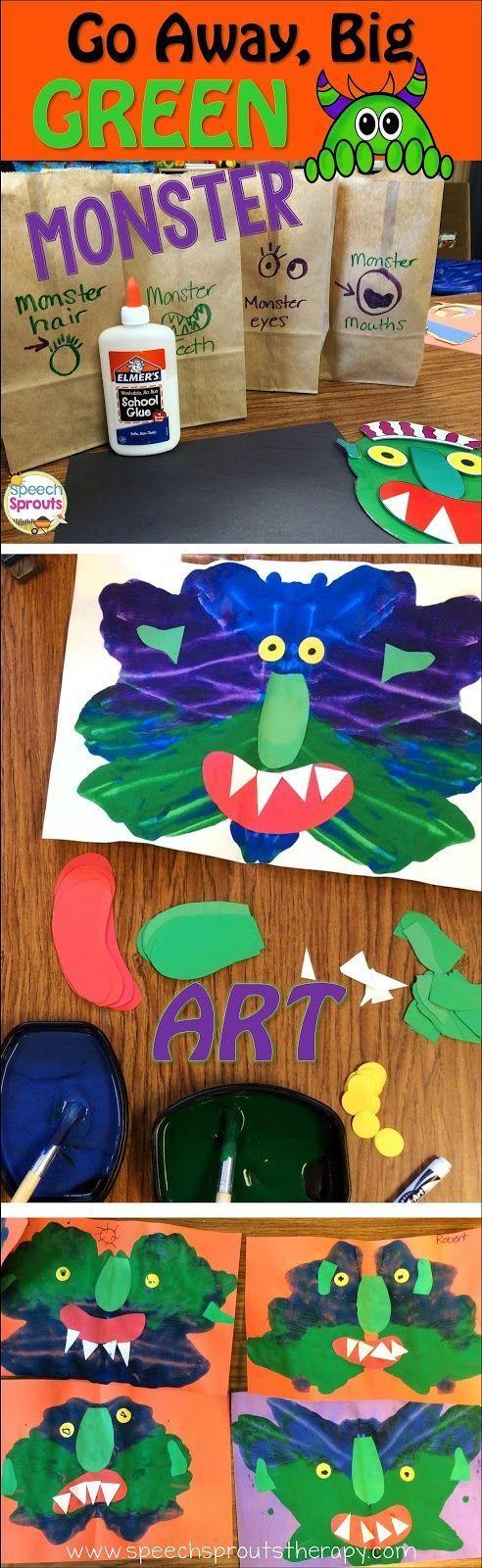 Go Away Big Green Monster: Best-Ever Books For Halloween Speech Therapy http://www.speechsproutstherapy.com