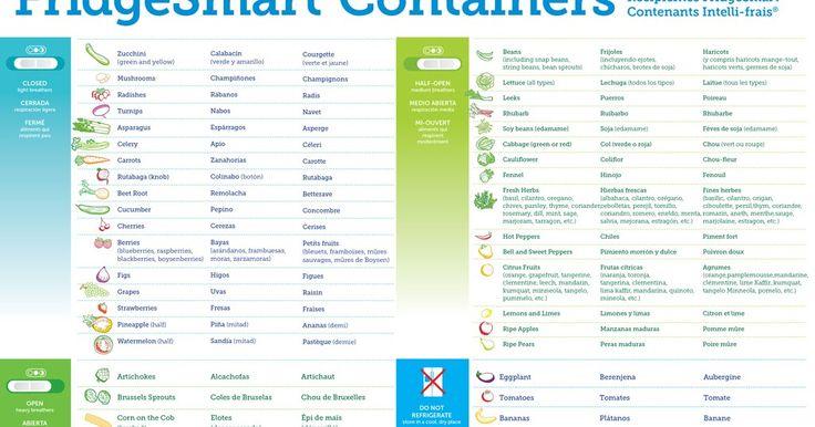 bpa free kitchen: FridgeSmart® Containers Storage Chart