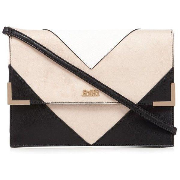 Faith Chevron Panel Clutch Bag ($36) ❤ liked on Polyvore featuring bags, handbags, clutches, chevron print purse, pink purse, chevron handbag, fold over purse and chevron purse
