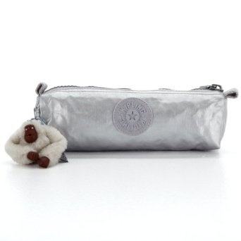 Amazon.com: Kipling Freedom Pen Case/cosmetic Bag in Platinum Metallic:
