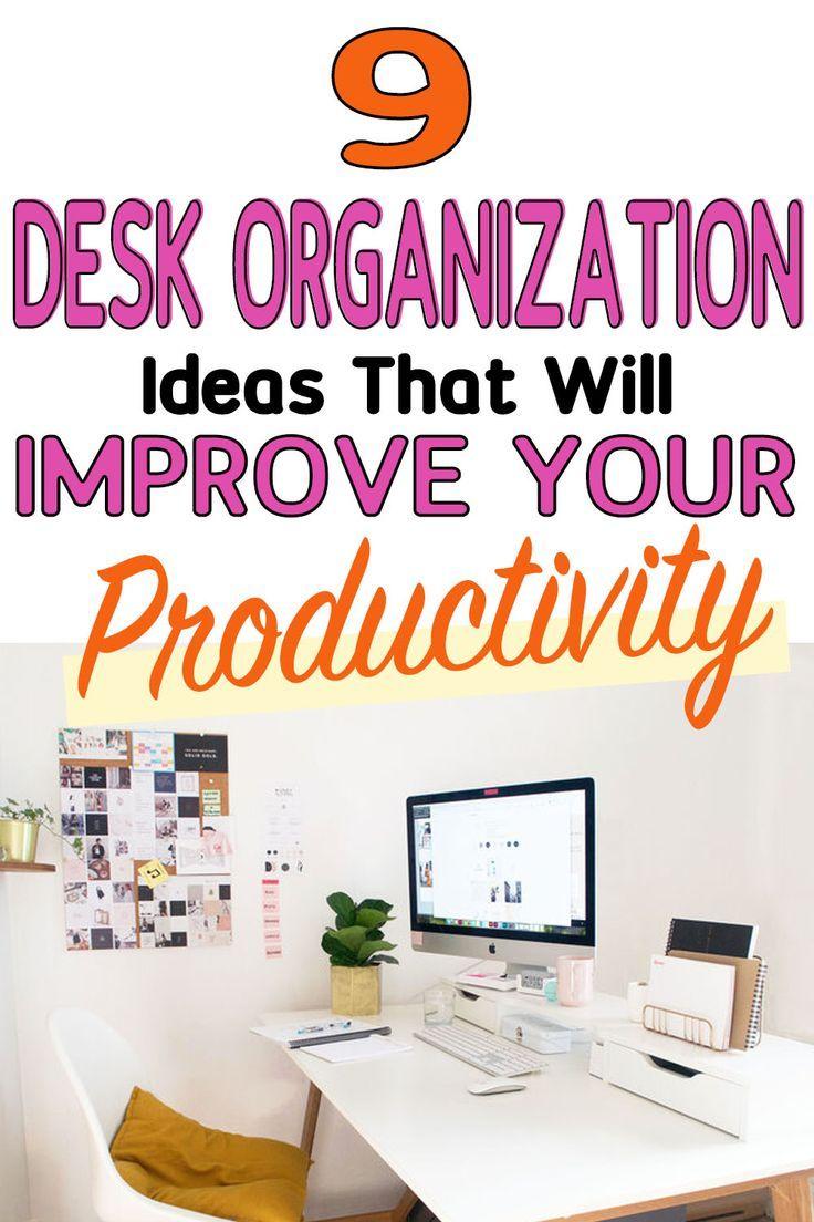 9 Creative Desk Organization Ideas That Will Improve Your
