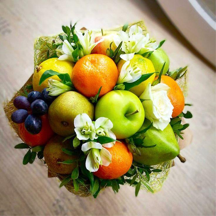Букеты цветов с фруктами фото, розовых пионов магазин