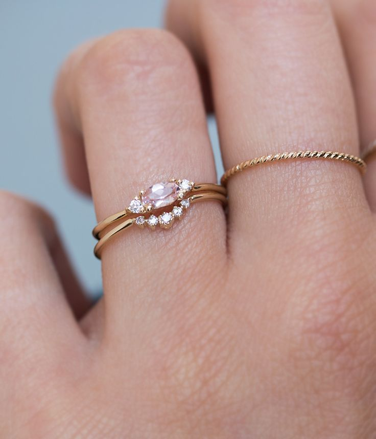Morganite Ballerina Stack - Audry Rose
