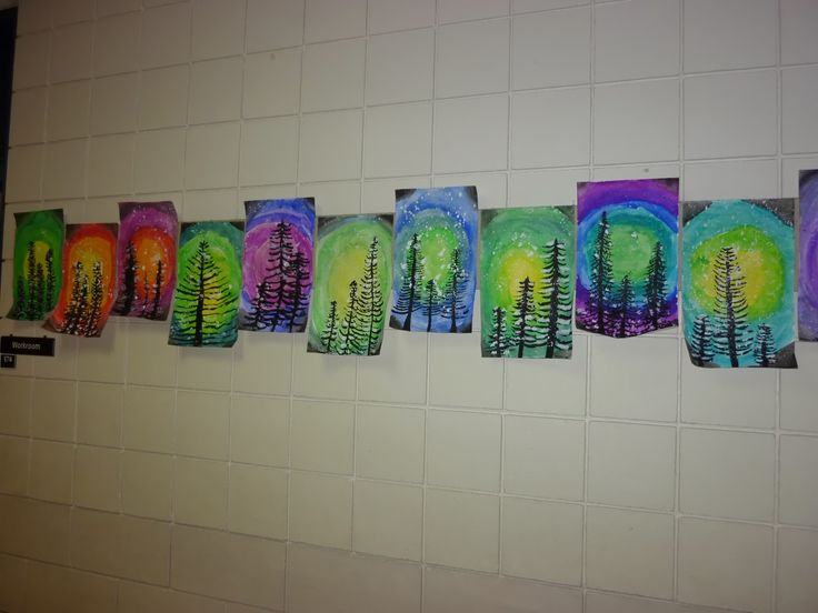 1st grade winter art - Google Search