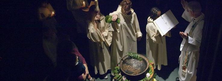 Easter Vigil, observed.