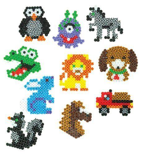 Perler Beads Fused Bead Animals, Truck, Alien Stripes Galore by Perler Beads