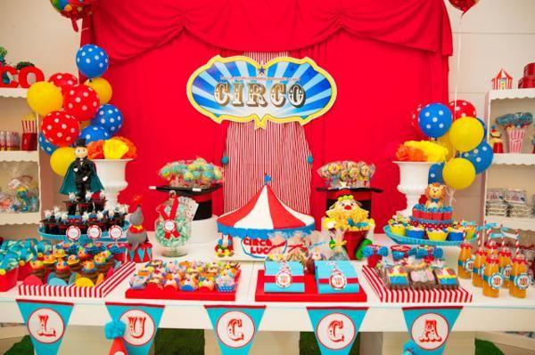 circus theme 1st birthday invitations   Circus Birthday Party via Kara's Party Ideas   KarasPartyIdeas.com # ...