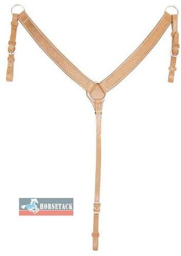 EcoLine Breastcollar/Vorderzeug    Basket punziert  Farbe: natur