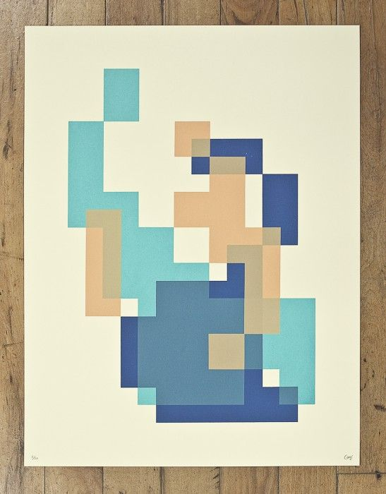 8 bit design. Craig Winslow created this print series based on 8bit characters in video games.