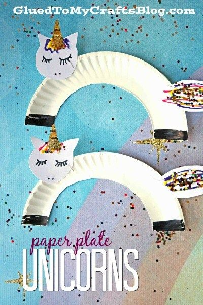 Super Easy Paper Plate Unicorn Kid Craft Glued To My Crafts