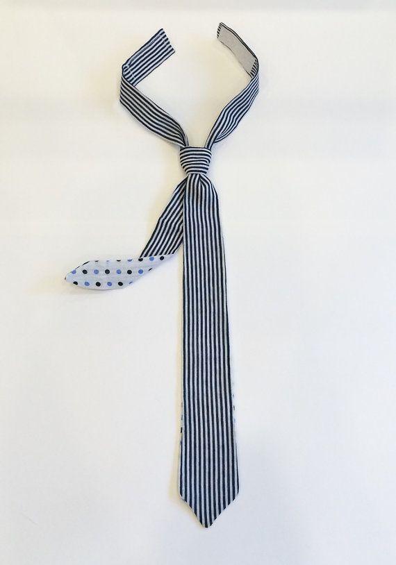 Two-sided skinny baby boy tie skinny ties by BeTheOriginal on Etsy