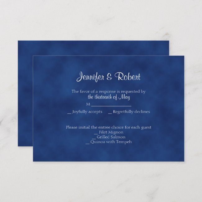 Sapphire Blue Bow 45th Anniversary Response Card Zazzle Com Response Cards Traditional Anniversary Gifts 45th Anniversary