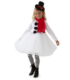 sweet snowman girls costume - Chasing Fireflies