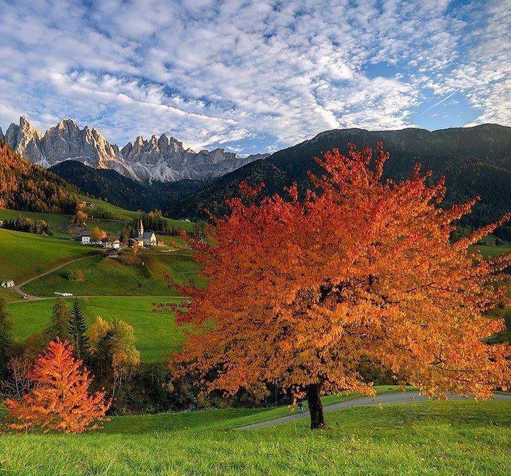 St Magdalena Val di Funes, Tirol del Sur, Italia