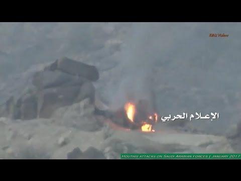 Guerreiros iemenitas Houthis atacam forças da Arábia Saudita - Janeiro d...
