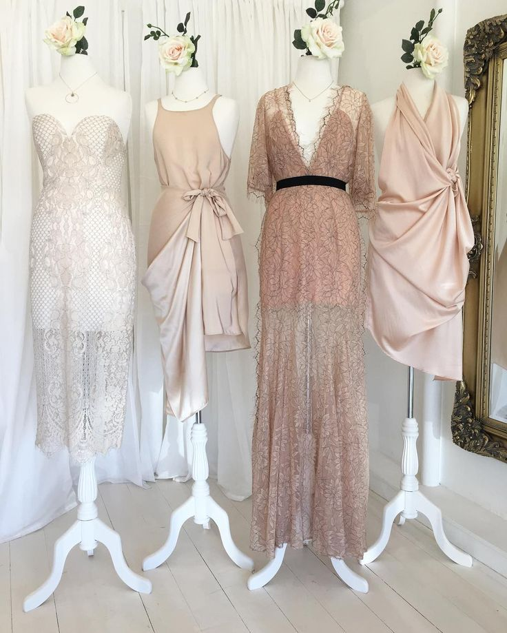 """Coco & Lola Bridesmaids on Instagram: """"Nudes and lace sitting pretty in our showroom, by some of our favorites ✨ Tap for details ☝🏼 . . . . . . . . . #perthweddings #yeahweddings…"""""""