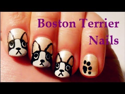 Boston Terrier Nails Tutorial