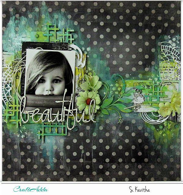 Kalalayaa's Art Stuido: Beautiful - Mixed media layout