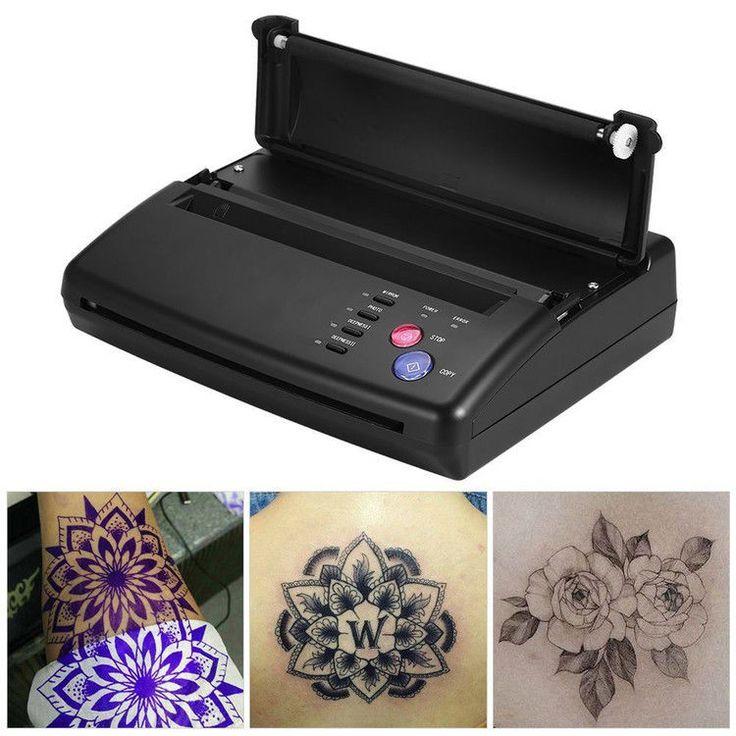 Tattoo Printer, Styling Professional Tattoo Stencil Maker Transfer Machine Flash #OUTAD