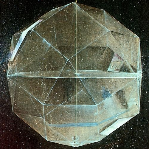 Painting of the Renaissance geometer, Fra Luca Pacioli, by Jacopo de Barbari, 1495, Capodimonte Museum, Naples.(Detail)