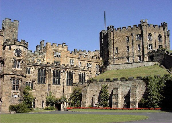 Durham Castle.  We spent a night in the castle.  Very old and damp but a great memory...